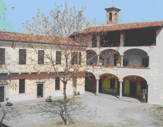 main courtyard of the Foundation